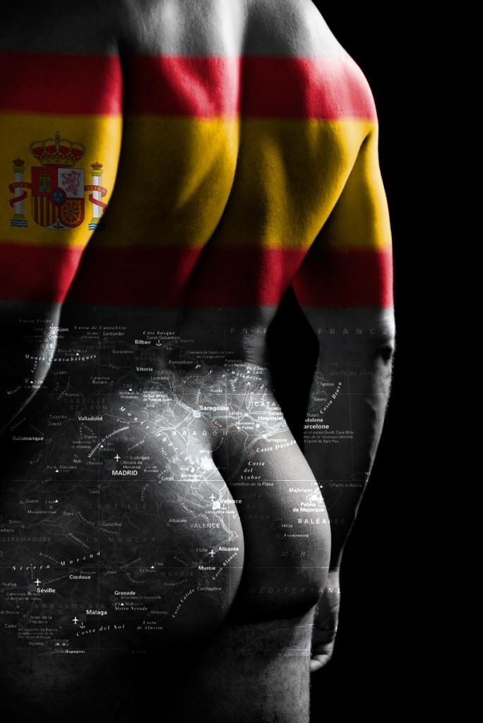 """Série Cartes du corps « Espagne """" Modèle Jean Franko"""