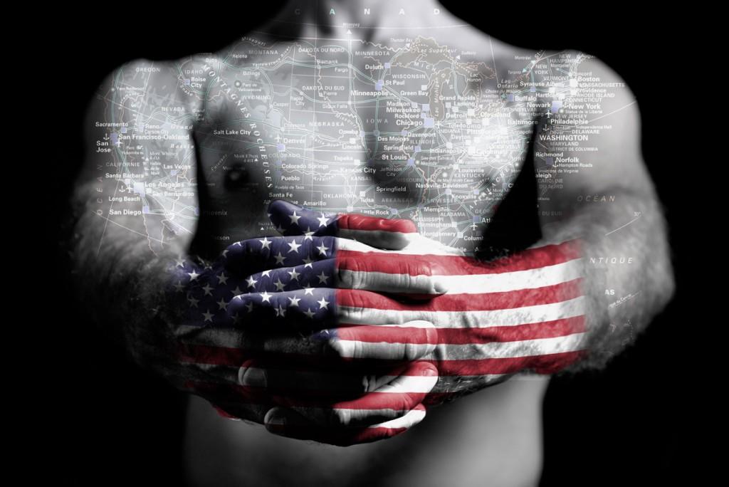 """Série Cartes du corps « Etats-Unis"""" Modèle Greg"""