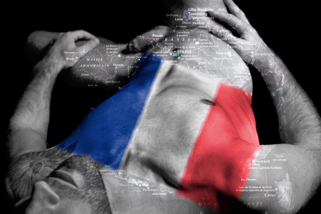 """Série Cartes du corps « France"""" Modèle Jean Greg"""