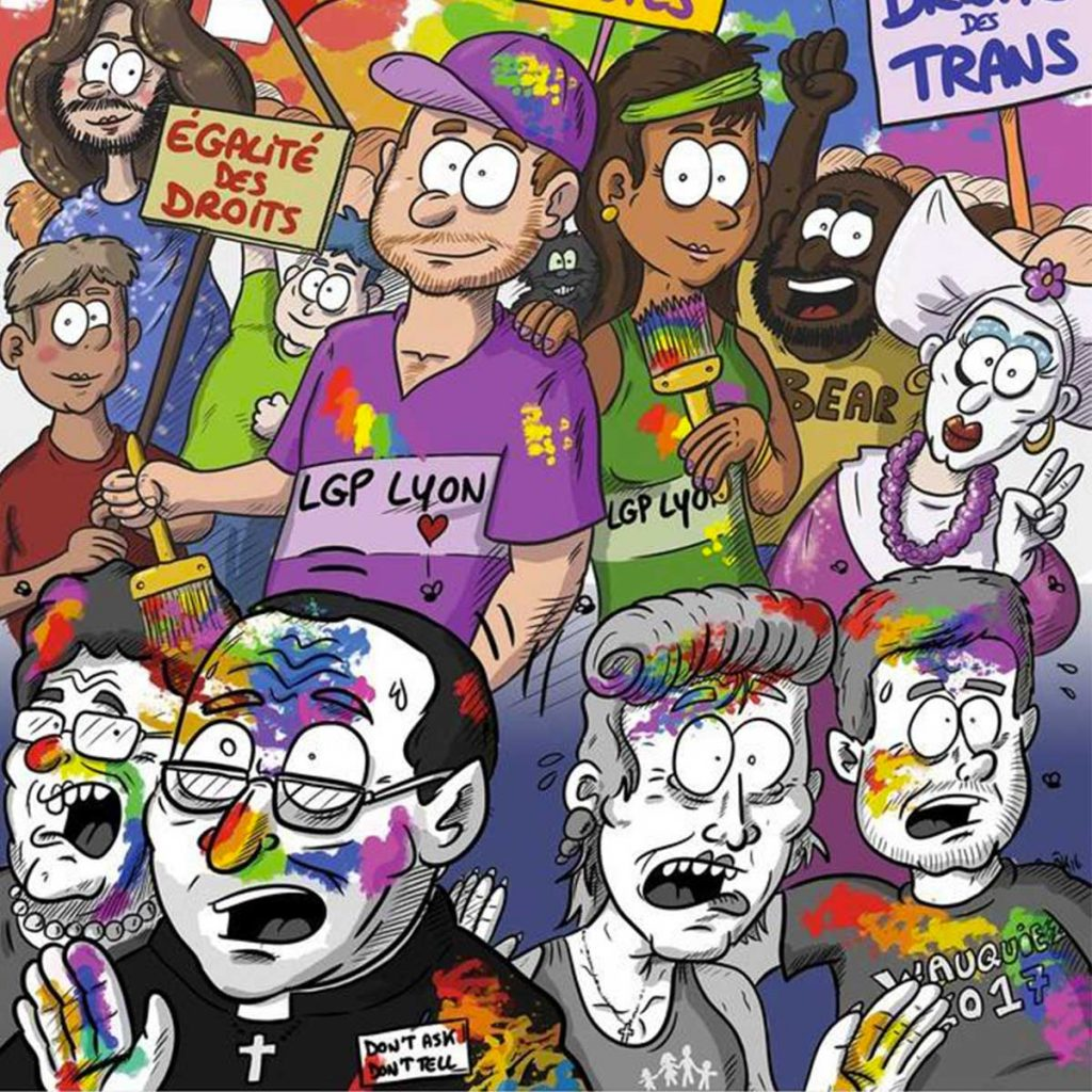 gay pride de lyon affiche