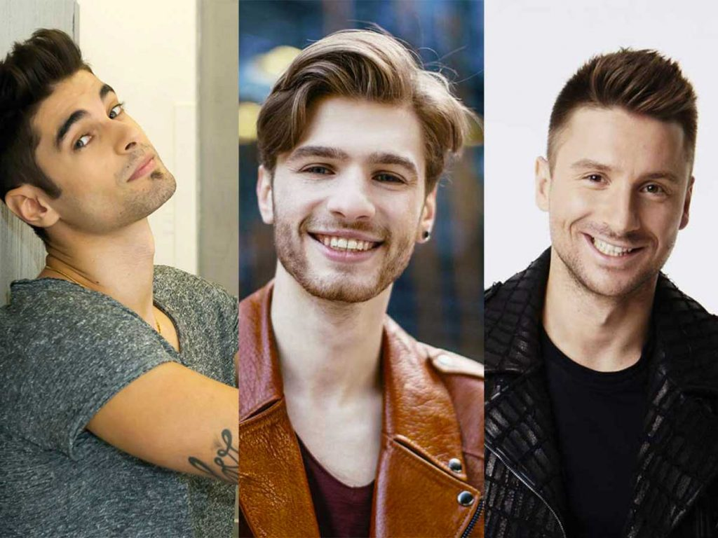 beaux candidats eurovision top 5