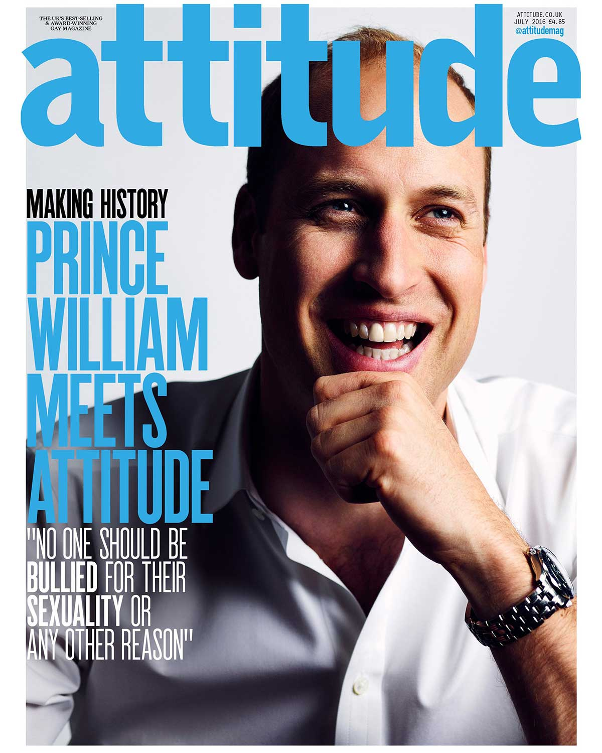 prince William magazine gay lutter contre harcèlement