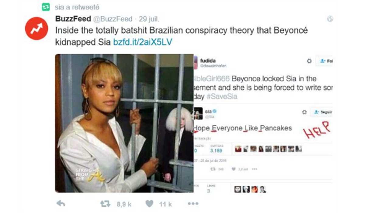 Beyoncé kidnappé Sia théorie