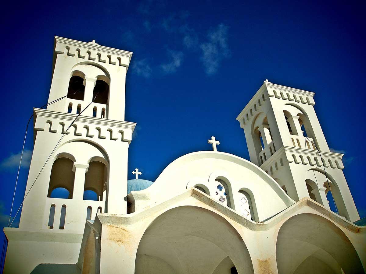 Eglise orthodoxe à Paros - Crédit photo Flickr/Peter Gyöngy