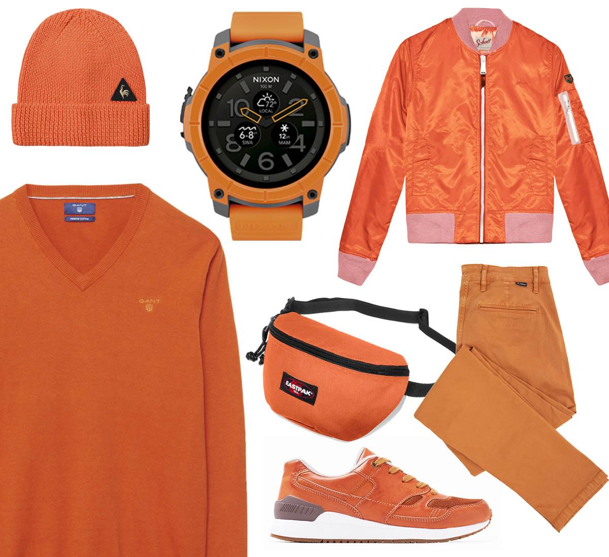 tetu-mode-orange-coq-sportif-schott-esprit-eastpak-nixon
