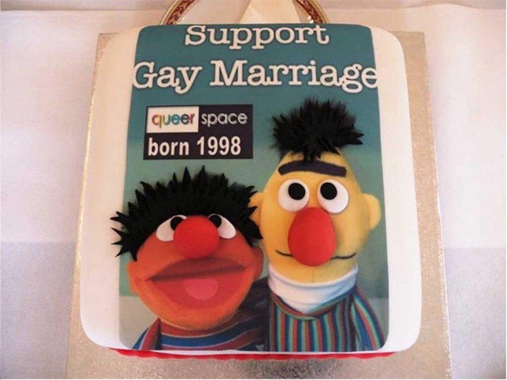 Belfast couple de pâtissiers gâteau mariage gay