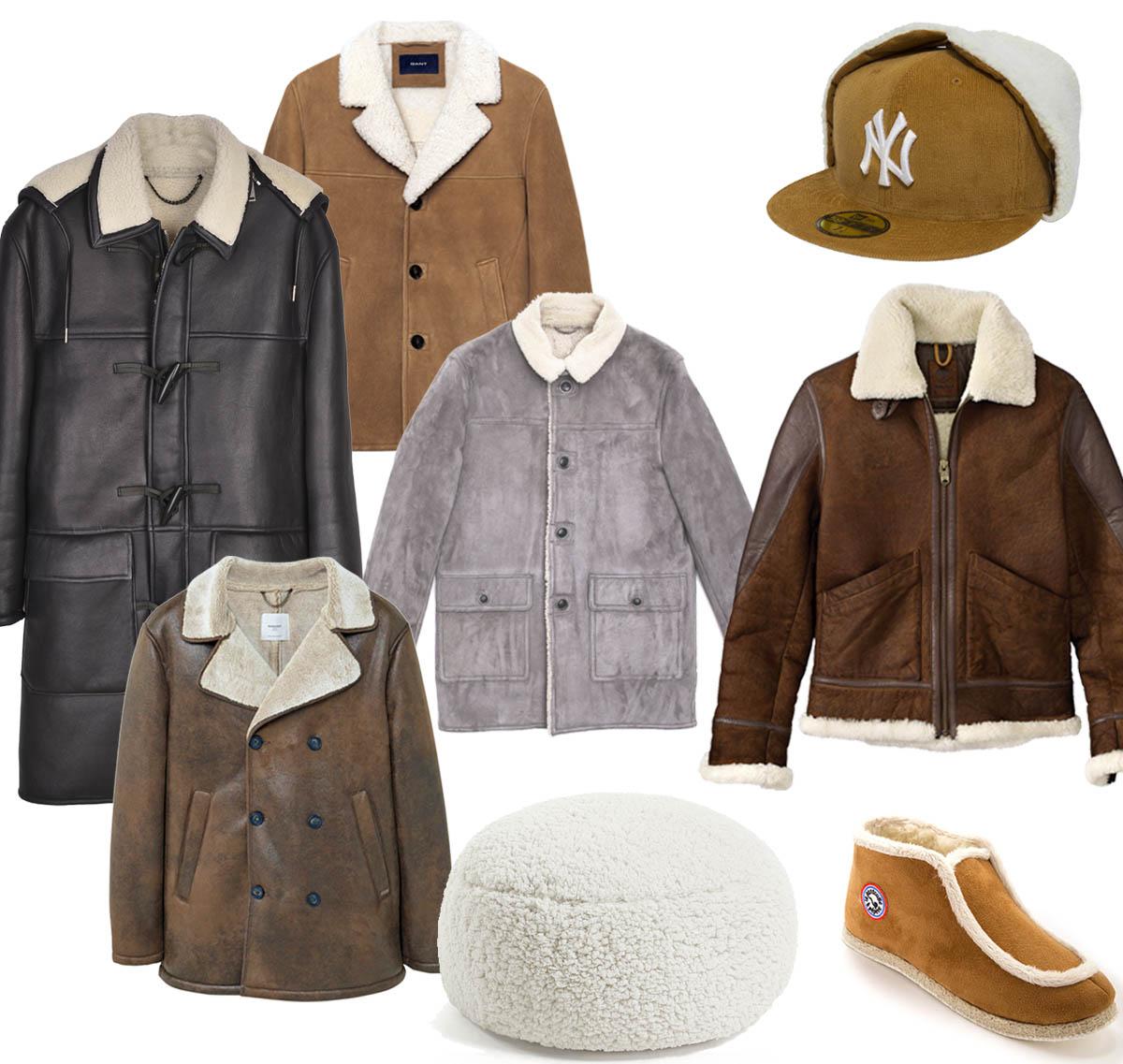 tetu-shopping-mode-shearling-man-gant-mango-timberland