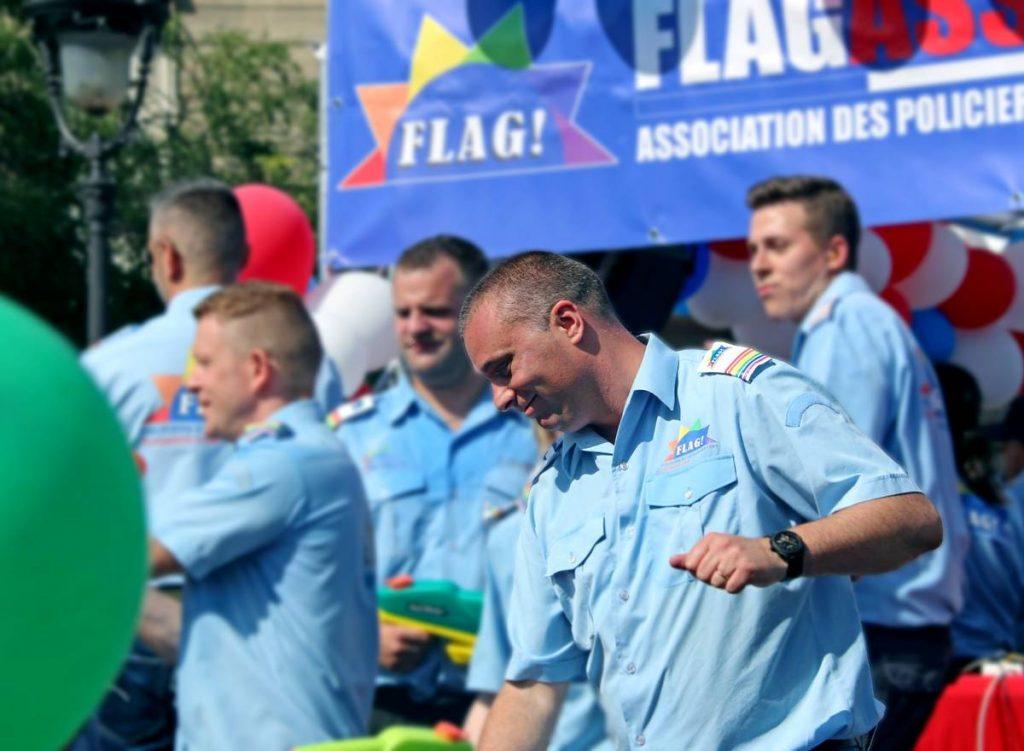 Flag Mickaël Bucheron policiers LGBT