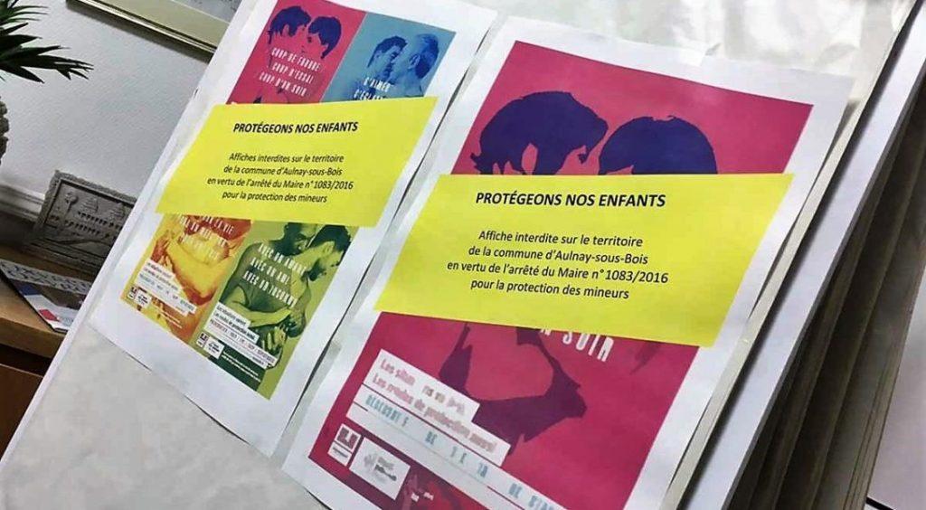 affiches de prévention censurer Aulnay Angers