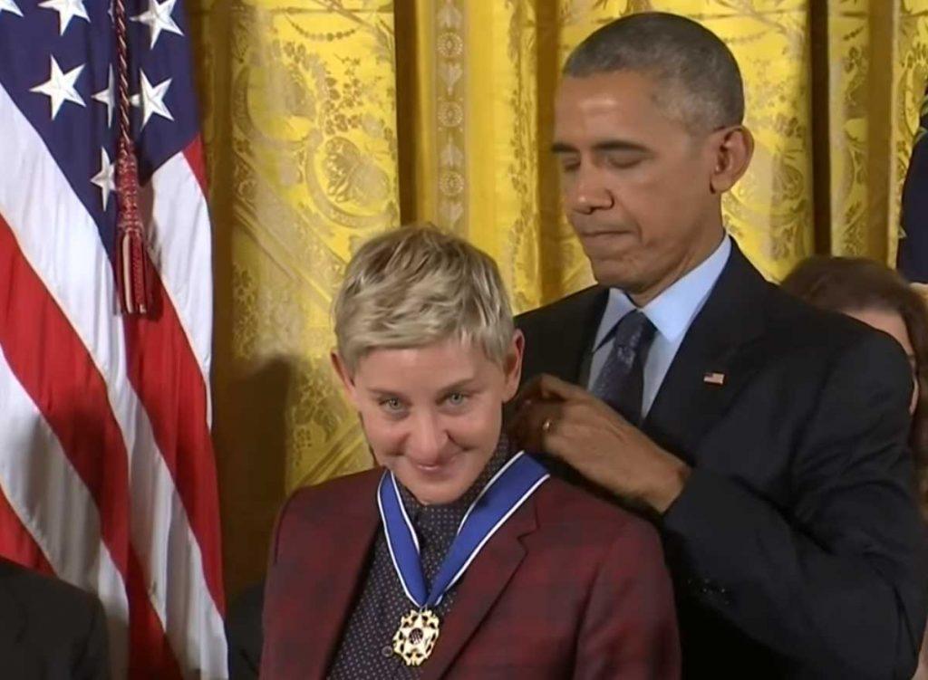 Obama Ellen DeGeneres médaille de la liberté