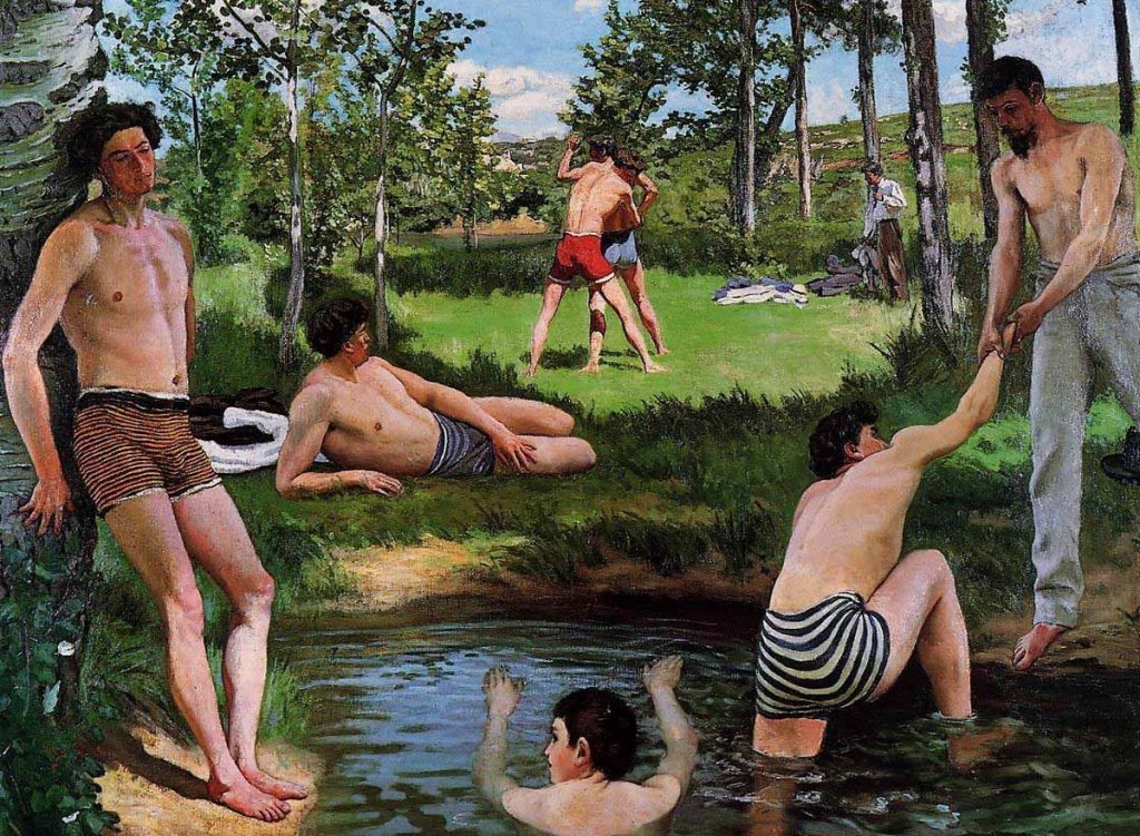 Frédéric Bazille impressionniste musée d'Orsay homo-érotiques