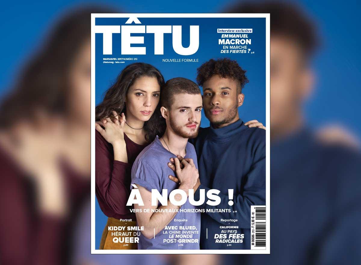 """""""A Nous !"""". Au sommaire du nouveau magazine TÊTU"""