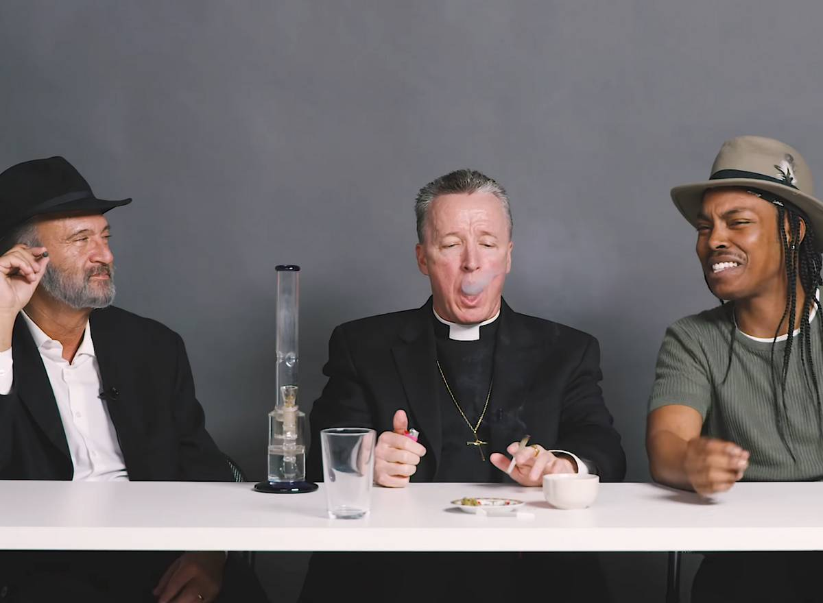 un rabbin, un prêtre et un homo cannabis