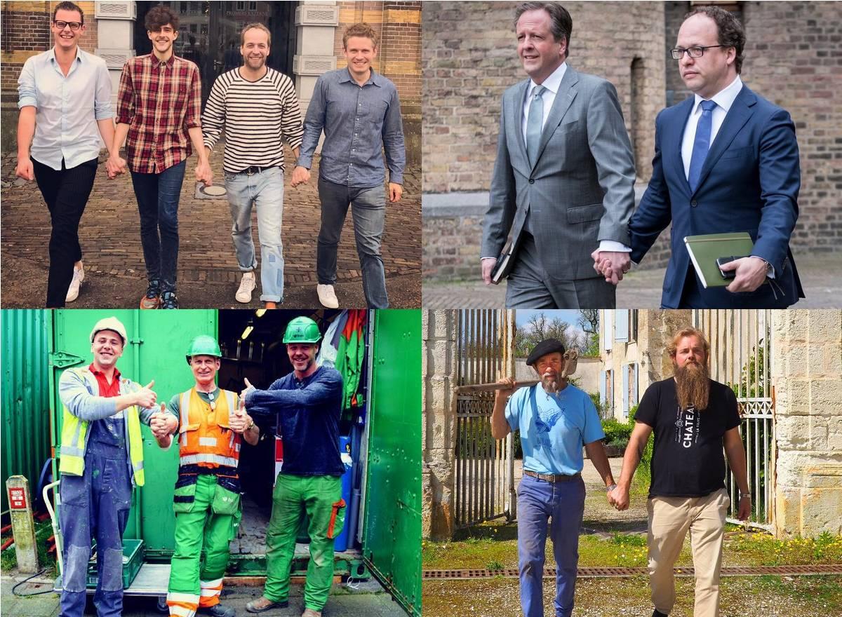 Pays-Bas agression homophobe main dans la main