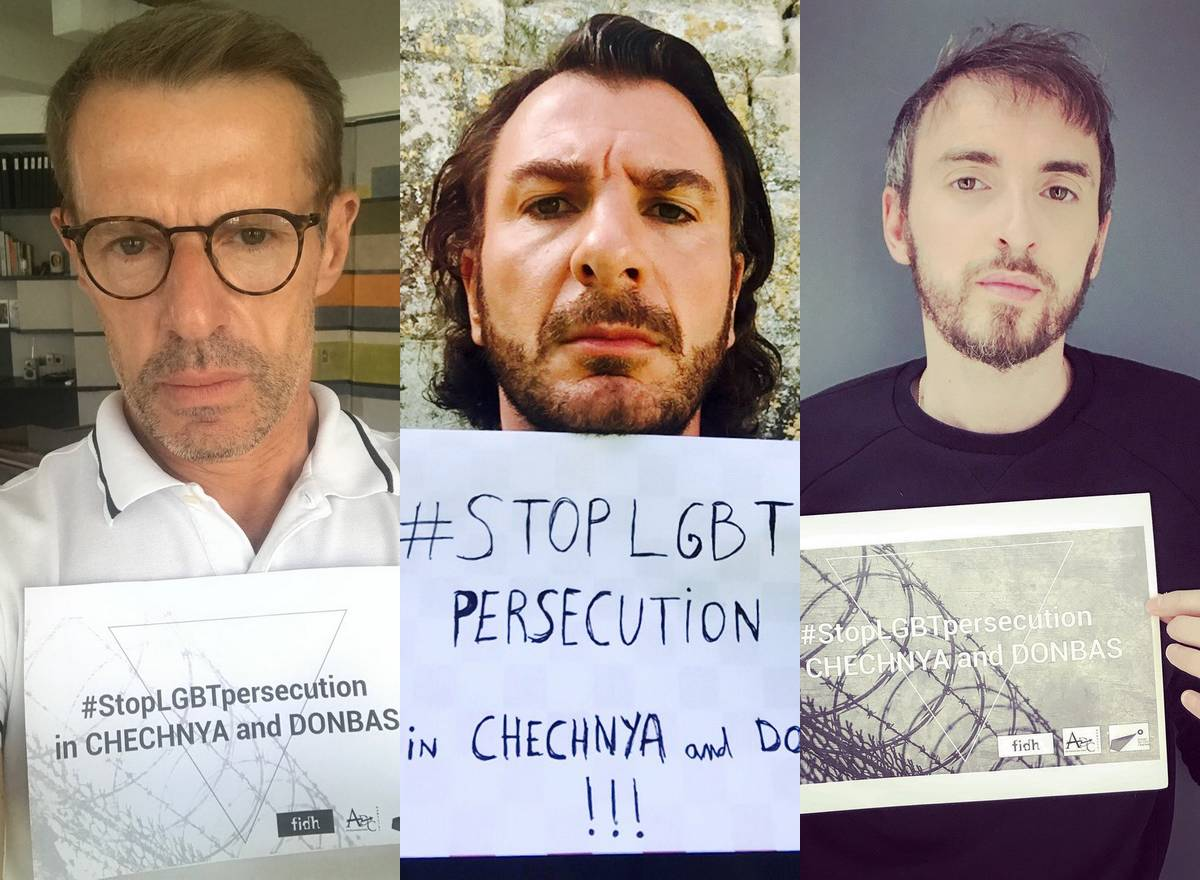 célébrités françaises gays tchétchènes #stopLGBTpersecution Urgence Tchétchénie