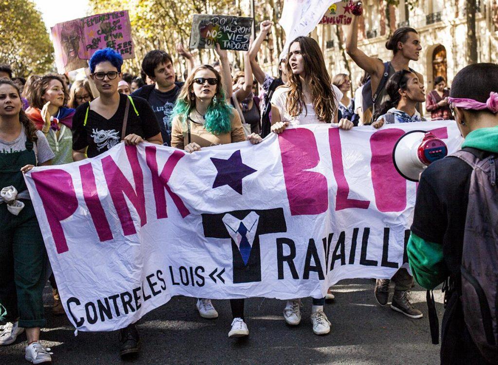 Pink bloc Collectif des Féministes Révolutionnaires Act Up-Paris