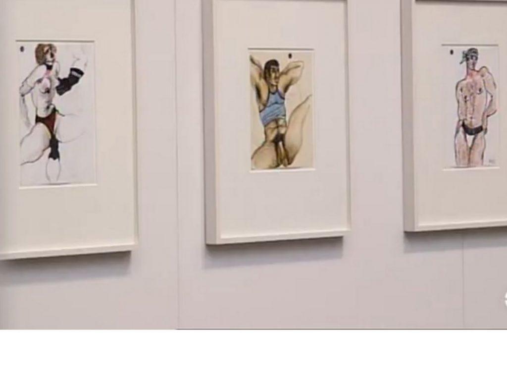 Yves Saint Laurent dessins érotiques gays