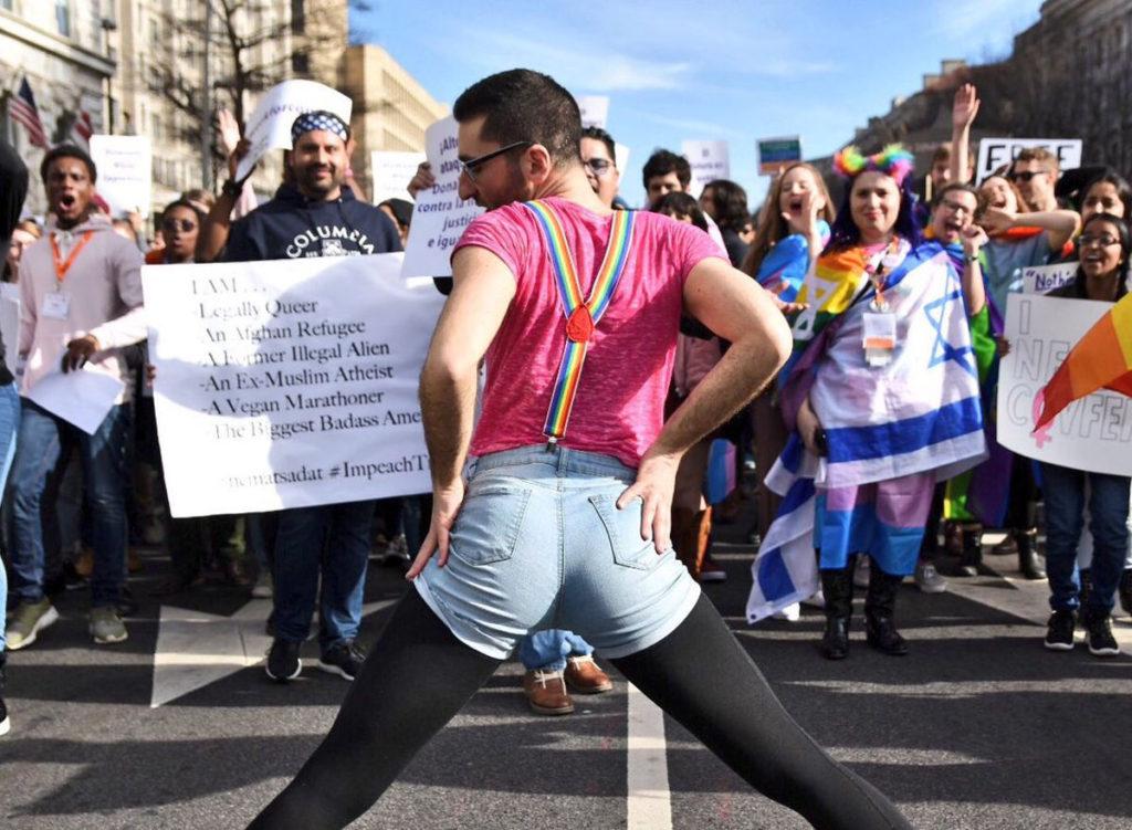 fête queer WERKforconsent hôtel Trump
