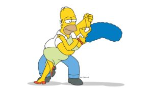 THE SIMPSONS: Homer and Marge Simpson on THE SIMPSONS on FOX. THE SIMPSONS ª and ©Ê2002 TCFFC ALL RIGHTS RESERVED