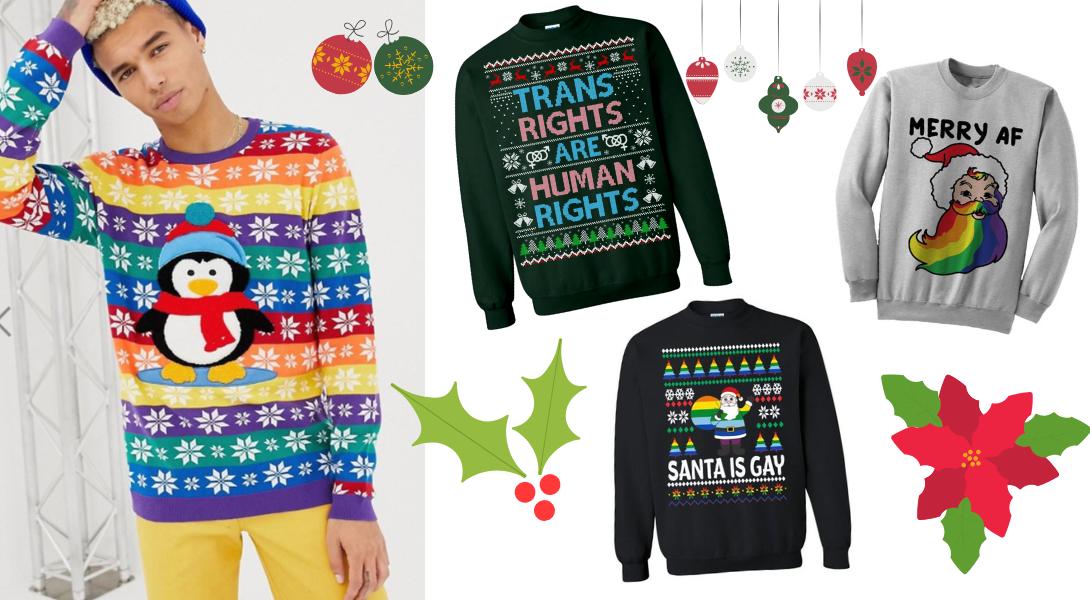 Notre sélection de 15 pulls et sweats de Noël queer !
