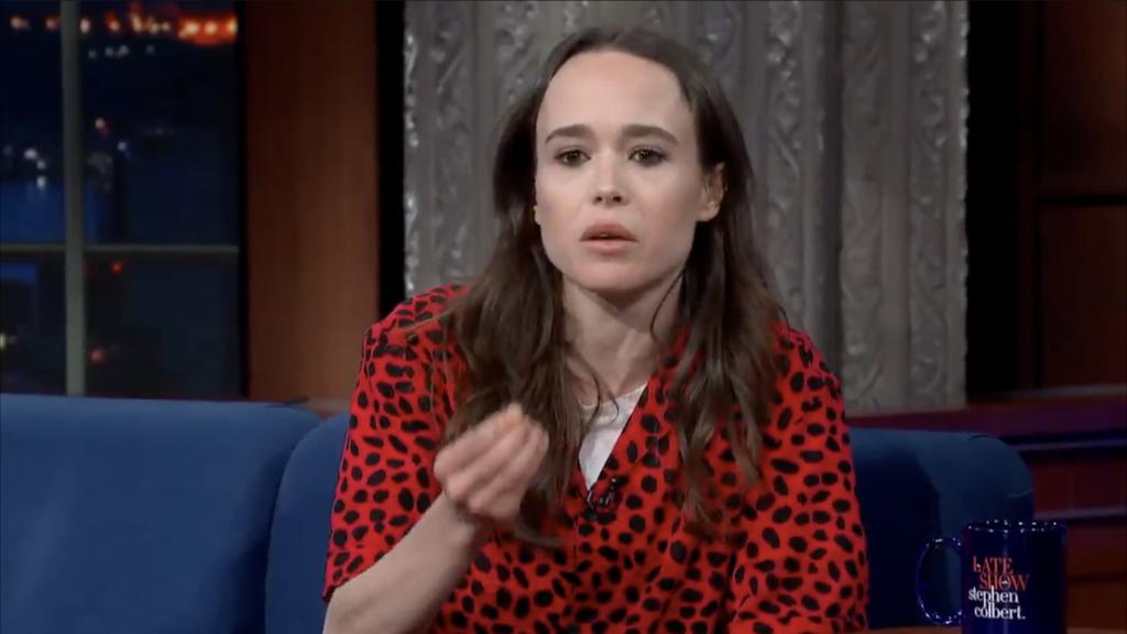 Ellen Page dans l'émission The Late Show sur CBS le 1er février 2019. (capture d'écran)