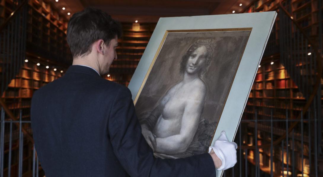 La «Joconde nue» ou l'alias queer de la Joconde, exposée en France
