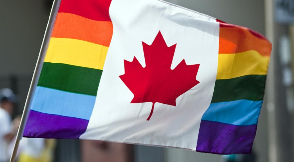 drapeau arc-en-ciel rainbow canada