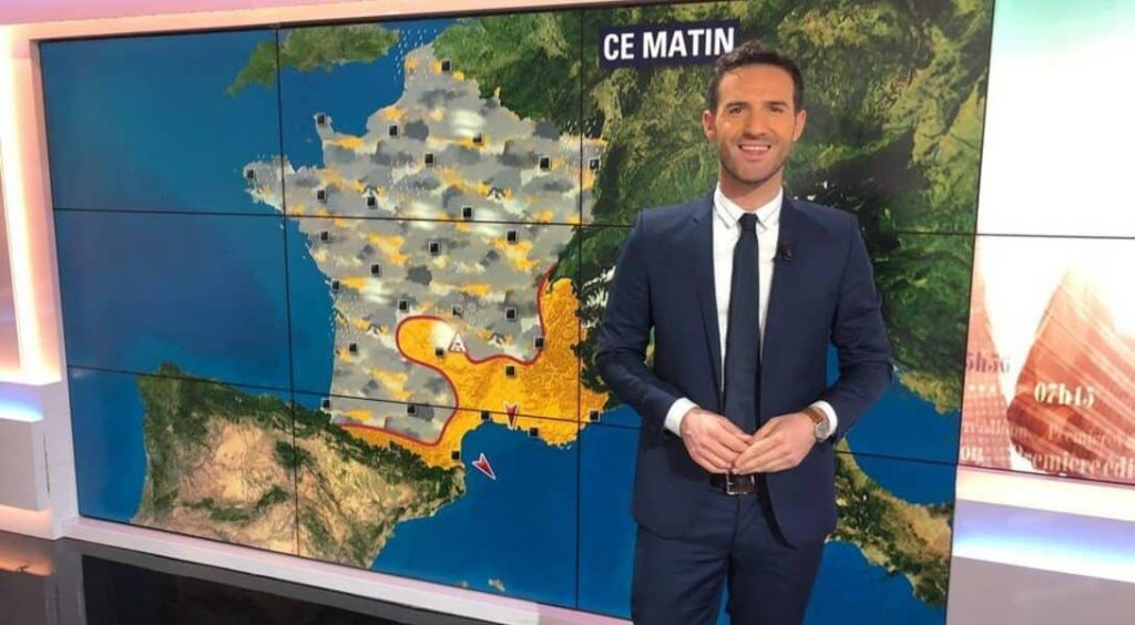 Marc Hay présente la météo sur BFM
