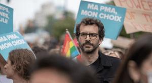 Bastien Lachaud, lors de la marche des fiertés 2021