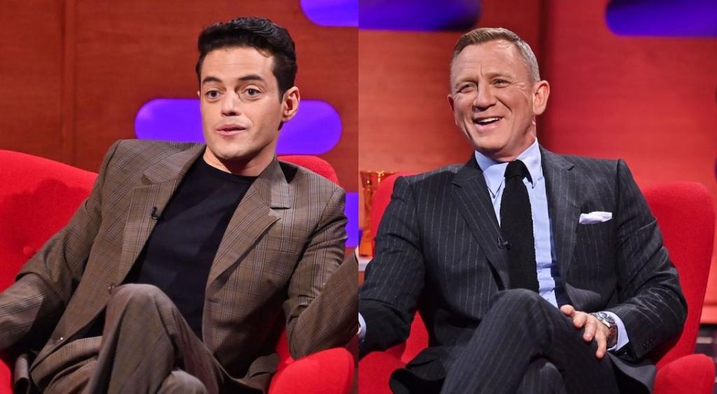 """Daniel Craig et Rami Malek se sont embrassés sur le tournage du dernier """"James Bond"""""""